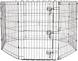 AmazonBasics Foldable Metal Pet Dog Exercise Fence Pen With Gate - 60 x 60 x 36 Inches