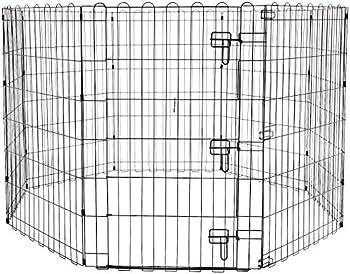 AmazonBasics Enclos pliant en métal pour chiens et animaux domestiques 152,4 x 152,4 x 91,4cm