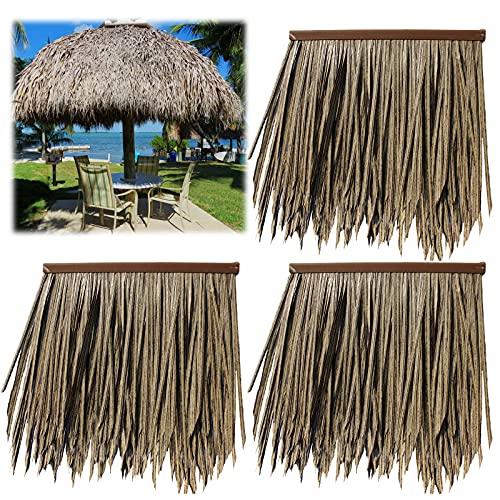 JCPSH Artificiale Foglia di Palma Tetto Pannello,Non marcisce Ambientale Materiale,Usato in Hawaii giardin Gazebo ombrellone Tiki barparete(Size:10pcs,Color:Old Straw)