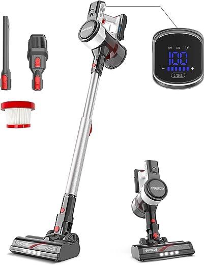Evereze Cordless Vacuum Cleaner, 25Kpa Stick Vacuum Powerful Suction, 50min Running Time...