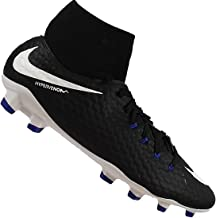 Nike Youth Hypervenom Phelon III Dynamic Fit FG Cleats [Black] (3Y)
