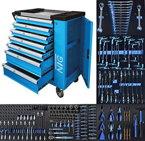 Werkzeugwagen Werkstattwagen Werkzeugkasten Werkzeugkiste + Werkzeug 247 tlg.