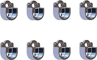 Metal Closet Wardrobe Rod Holder Socket End Support Pipe Bracket U-Shaped Flange for 22mm/0.87