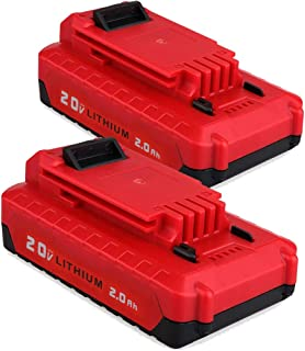 PCC680L for Porter Cable 20V Battery, 2.0Ah Lithium-ion Battery for Porter Cable PCC685L PCC682L PCC685LP PCC600 PCC640 (2 Pack)