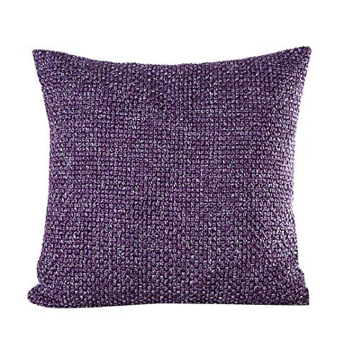 yistu funda de almohada, suave, pana sofá cama funda de cojín 45cm * 45cm