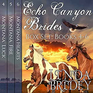 Echo Canyon Brides Box Set     Books 4-6              Written by:                                                                                                                                 Linda Bridey                               Narrated by:                                                                                                                                 Lawrence D. Yaklin                      Length: 23 hrs and 8 mins     Not rated yet     Overall 0.0