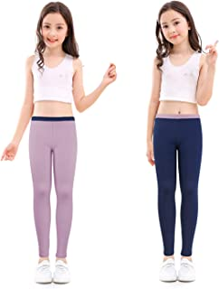 Cotton Ankle Length Girls Leggings Stretchy Kids Pants 3-12y