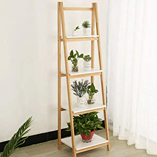 Solid wood flower stand trapezoidal free installation device shelf wall corner multi-layer practical book shelf,B style