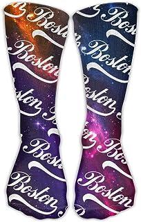 Bigtige, Hombres Mujeres Calcetines clásicos Clásicos Boston Galaxy Calcetines deportivos personalizados 50cm de largo-Toda la temporada