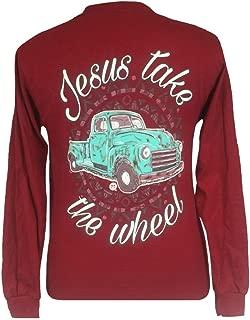 Jesus Take The Wheel Long Sleeve T-Shirt Cardinal Red