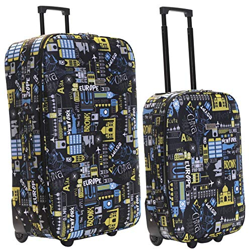 Slimbridge Super Lightweight Set of 2 Luggage Suitcases Bags Cabin Carry-on and Large 2...