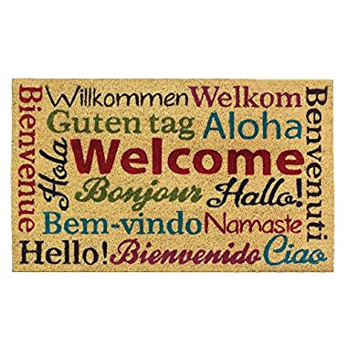 Multi-Lingual Welcome Mat 30  x 18  x 0.5