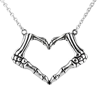Controse Skeleton bone hand necklace love sign pendant – I LOVE YOU TO DEATH