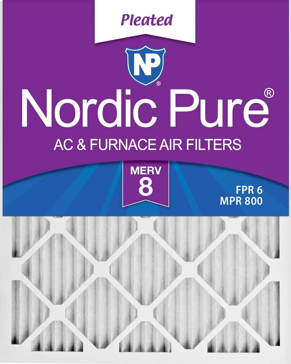 Nordic Pure 16x20x1 MERV 12 Tru Mini Pleat AC Furnace Air Filters 4 Pack