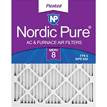 Nordic Pure 14x30x1 MERV 8 Pleated AC Furnace Air Filters 4 Pack