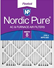 Nordic Pure 18x30x1 MERV 8 Pleated AC Furnace Air Filters, 18x30x1M8-6, 6 Pack
