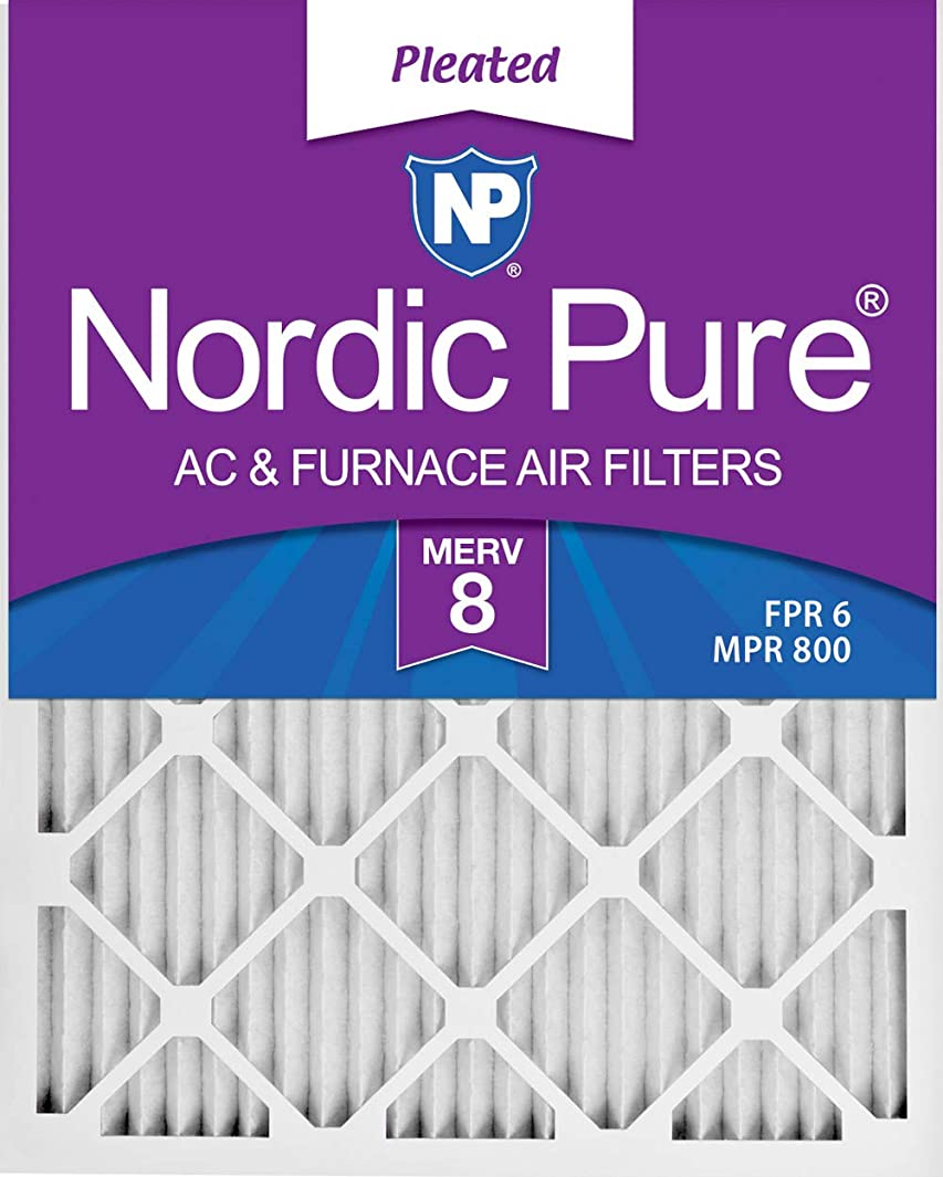 Nordic Pure 18x25x1 MERV 8 Pleated AC Furnace Air Filters, 18x25x1M8-6, 6 Pack