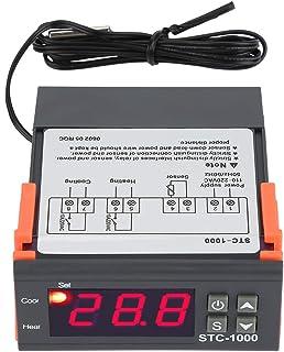 Temperaturregulator STC-1000, AC 250V Allmän Digital Termostat Temperaturkalibrering med NTC-temperatursensorsond för Jäsn...