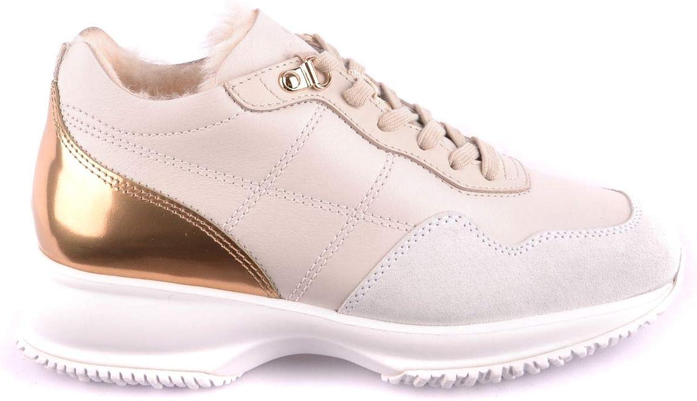 Hogan Women's MCBI33220 White Leather Sneakers