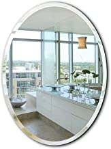 Frameless Hanging Wall Mirror Oval HD Glass Make Up Mirror for Bathroom, Vanity, Bedroom (Size : 45 60cm)
