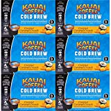 JAVA HOUSE Cold Brew Coffee, Kauai Caramel Coconut Crunch Coffee Concentrate Liquid Pods - 1.35 Fluid Ounces (36 Count) Enjoy Hot Or Iced