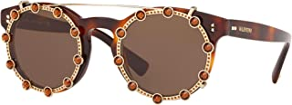 Valentino VA 4009CB, Havana + Gold/brown Clip-on (5011/73), Women, 47/22/140
