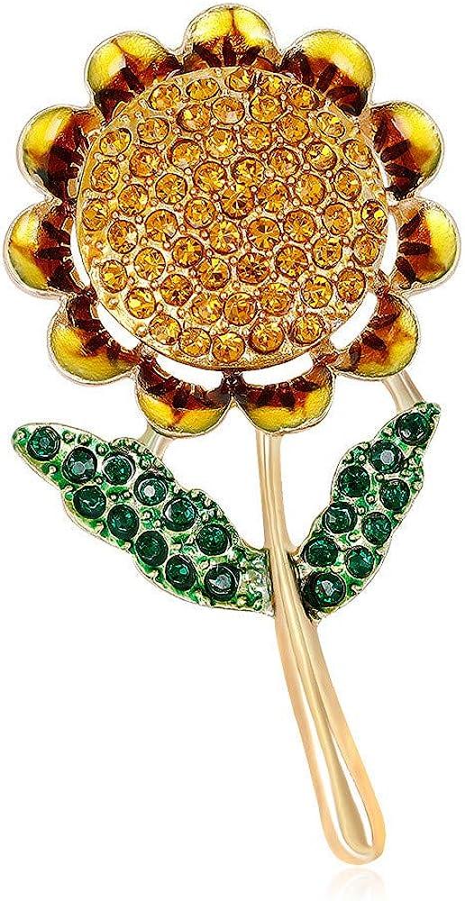 SKZKK Sunflower Brooch Pins for Women Plant Enamel Pin,Gift Packaging