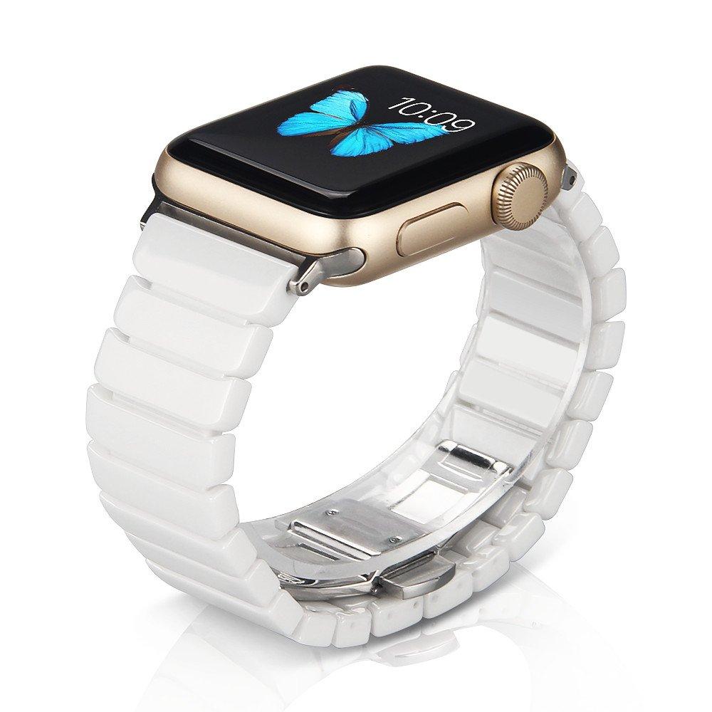 NotoCity Compatible Apple Watch 42mm/44mm de Correa Cerámica con Hebilla de Metal Mariposa para la Serie 4 3 2 1: Amazon.es: Electrónica