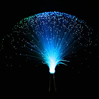 LED Multicolor Changing Fiber Light Colourful Changing Fibre Optic Fountain Party Light Nightlight Lamp Calming Lamp Chris...