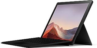 Microsoft Surface Pro 7, 12,3 Zoll 2 in 1 Tablet (Intel Core i5, 8GB RAM, 256GB SSD, Win 10 Home) Schwarz + Pro Type Cover (QWERTZ Keyboard) Schwarz