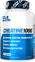 Evlution Nutrition Creatine1000, 1 Gram of Pure Creatine Monohydrate in Each Serving, Veggie Capsules (60 Servings)