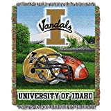 "THE NORTHWEST COMPANY Officially Licensed NCAA Idaho Vandals Home Field Advantage Woven Tapestry Throw Blanket, 48"" x 60"", Multi Color -"