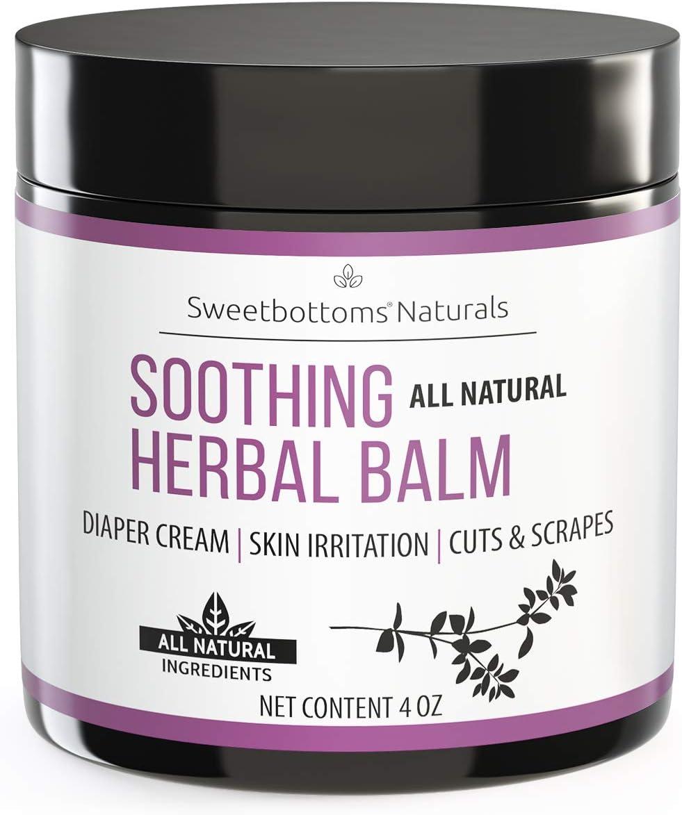 All-Natural Diaper Rash Cream Balm - Prevent  Heal Inflamed Ski
