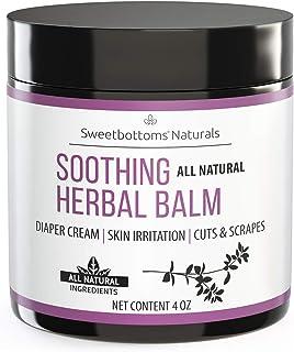 Sponsored Ad - All-Natural Diaper Rash Cream Balm - Prevent & Heal Inflamed Skin and Rash - Treat Cuts, Scrapes & Eczema -...