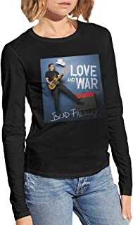 Brad Paisley Women's Sexy Stylish Crewneck Long Sleeve T Shirt Black