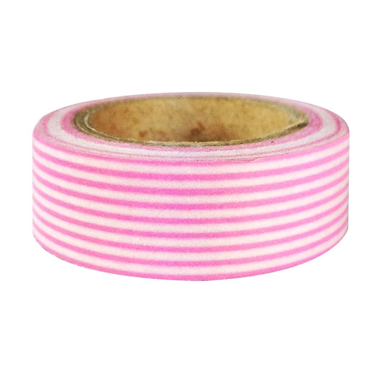 Wrapables Striped Japanese Washi Masking Tape, Pink Long Stripe