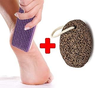 Finest Natural Lava Pumice stone - Synthetic Purple Pumice Stone -Callus Remover Foot Scrubber Home Pedicure Exfoliation