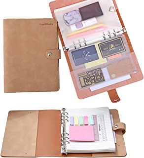 Sponsored Ad - Multitasky Cute Faux Leather Journal Pocket Personal Organizer, Loose Leaf Notebook, A5 Notebook, Aesthetic...