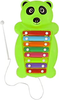 Aarushi Pull and Tune Green Plastic Panda Xylophone Kids Musical Toy 37 cm (Color May Very)