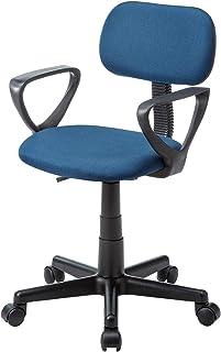 サンワサプライ 肘掛け付きオフィスチェア/デスクチェア ブルー SNC-A1ABL