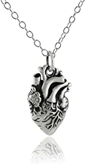 anatomical heart charm