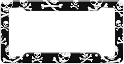 Graphics and More Blank Pirate Jolly Roger Skull Crossbones Pattern License Plate Frame