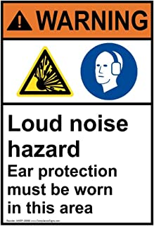 loud noise warning sign