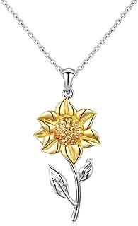 Best sunflower pendant silver Reviews