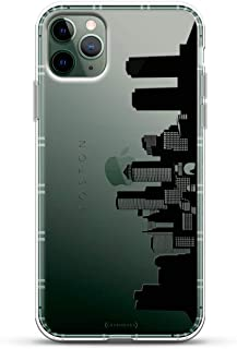 Landmarks: Boston Black & White Skyline   Luxendary Air Series Clear case with 3D-Printed Design & Air Cushions for iPhone 11 MAX