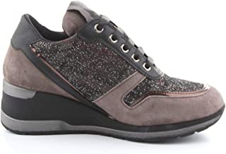 Luxury Fashion | Melluso Women R25522TORTORA Grey Leather Sneakers | Autumn-winter 20
