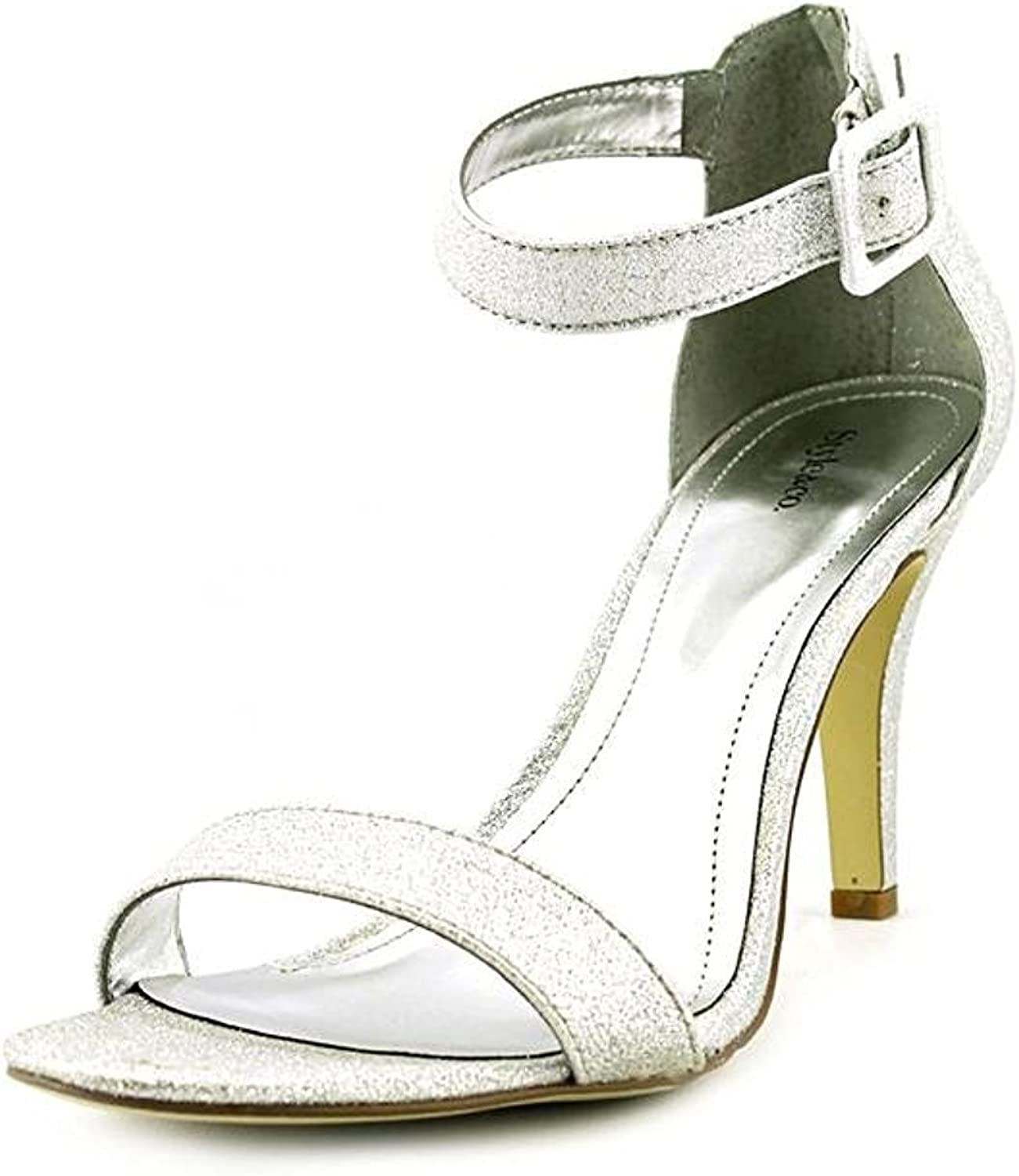 Style & Co. Womens Highlight Open Toe Casual Ankle Strap, Silver, Size 7.5
