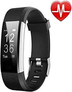Letufit Today50% Off,Fitness Watch,Fitness Tracker, Activity Tracker with Heart Rate Monitor,Step Counter,GPS Tracker,Waterproof Smart Wristband for Android and iOS