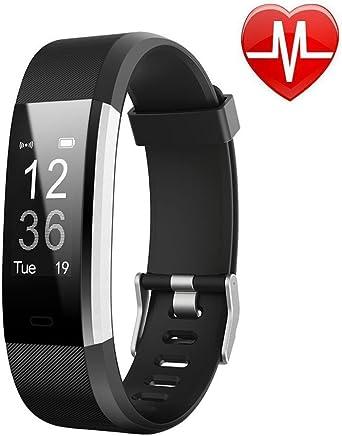 Letufit Plus Fitness izleyici + Kalp atımı Monitor, su geçirmez IP67Smart bileklik ile adım sayacı saat Android ve iOS için