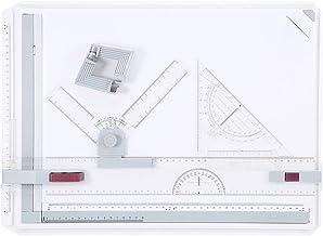Cikonielf A3 tekentafel met parallelle beweging en linialen met verstelbare hoek, technisch tekenbord, multifunctioneel te...